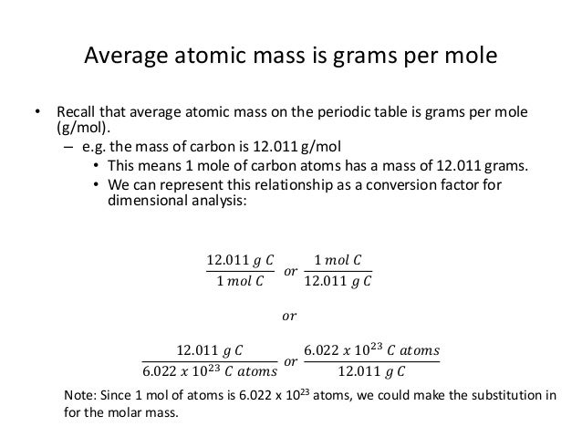 Unit 3 5 mass calculations atoms atomic masses from the periodic table 3 urtaz Images