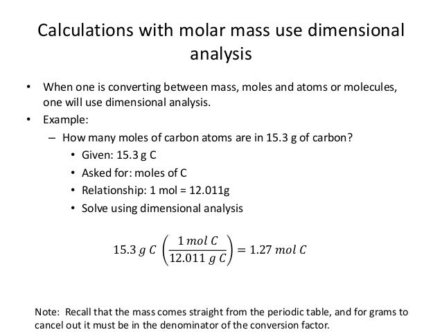 Unit 3 5 mass calculations atoms calculations with molar mass urtaz Images