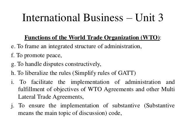 functions of world trade organization pdf