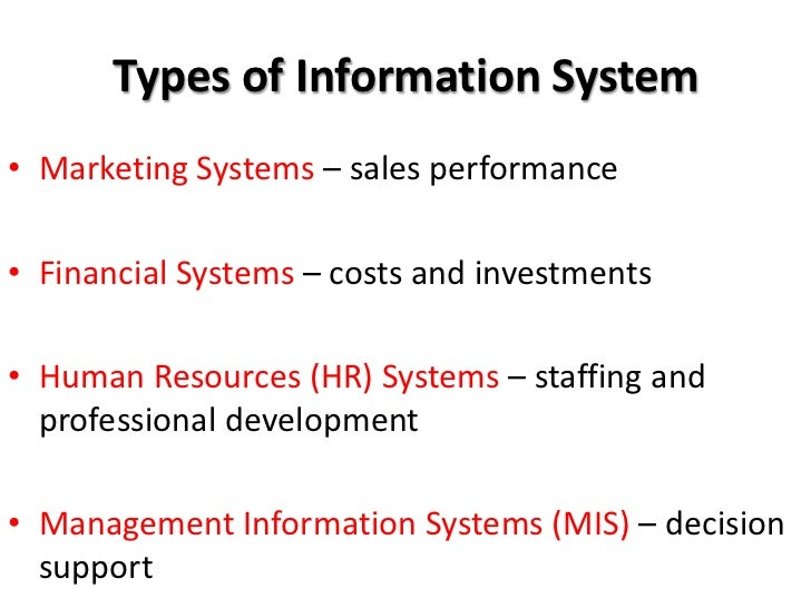 Slide choice management information system mis