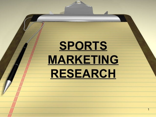 1 SPORTS MARKETING RESEARCH