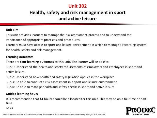 Risk Assessments In Sport Fema Risk Assessment Tool