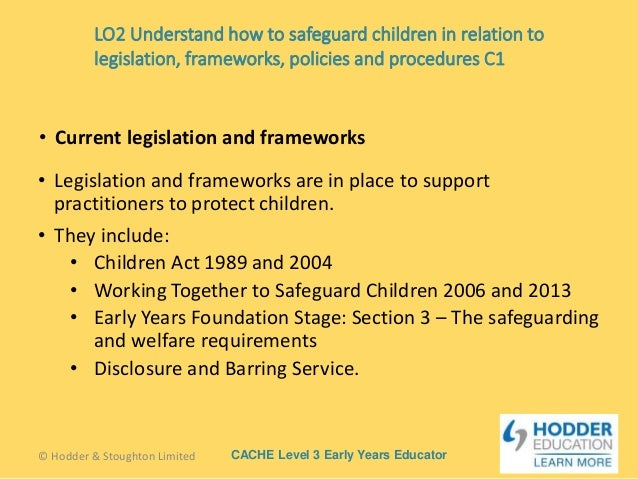 understand how to safeguard children and Cypw unit 25 – understand how to safeguard the well being of children and young people outcome 1 – understand the main legislation, guidelines, policies and procedures for safeguarding children and young people 11.