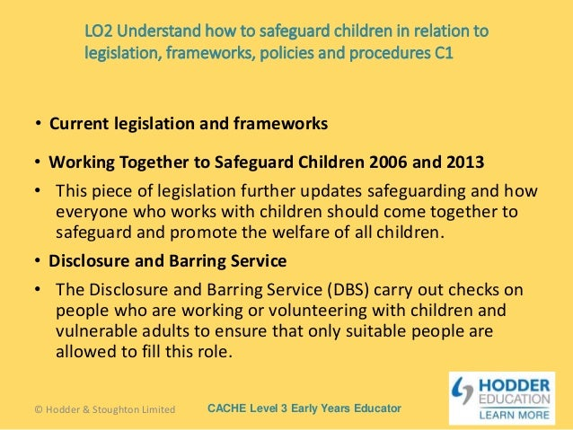 identify current legislation guidelines policies and Identify the current legislation, guidelines, policies and procedures for safeguarding the welfare of children and young people including e-safe the current legislations, guidelines, policies and procedures for safeguarding the welfare of children and young people are:.
