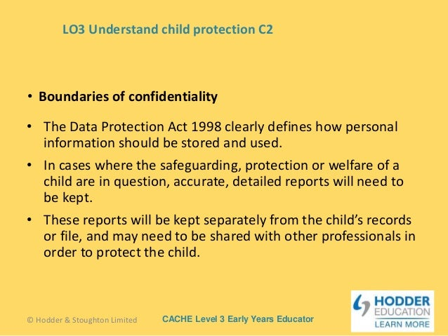 confidentiality in a childcare setting Information the law in ireland provides for the regulation and inspection of pre- school childcare services under the child care act 1991 as.