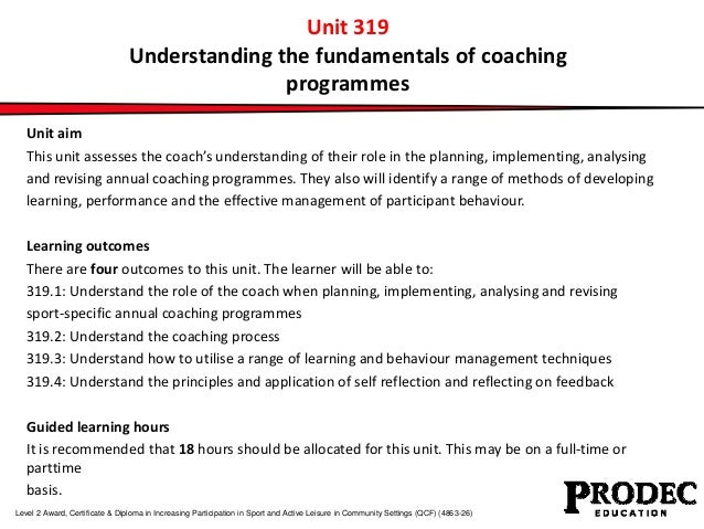 Unit 319 understanding the fundamentals of coaching programmes 3 unit 319 understanding the fundamentals of coaching fandeluxe Image collections