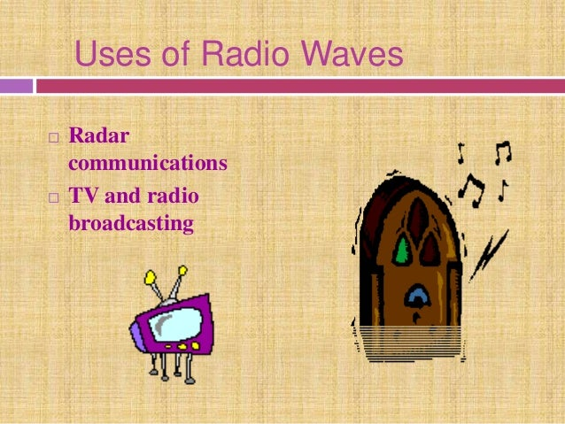 uses of electromagnetic waves essay The electromagnetic spectrum includes all types of radiation - from the x-rays  used at hospitals, to radio waves used for communication, and even the.