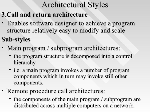 Architectural StylesArchitectural ...