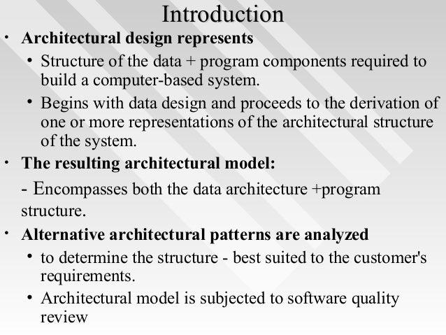 ... Architectural Design; 2.