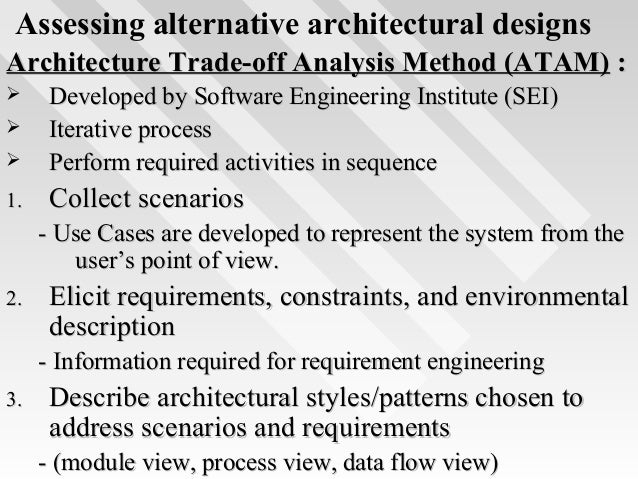 30. Assessing Alternative Architectural ...