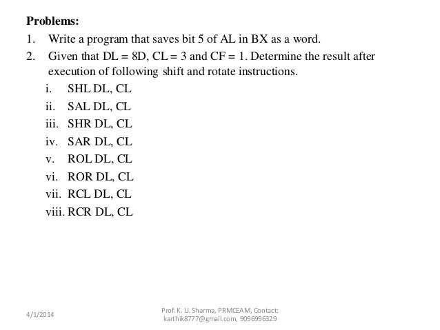 Chapter 7 assembly language instructions ppt video online download.