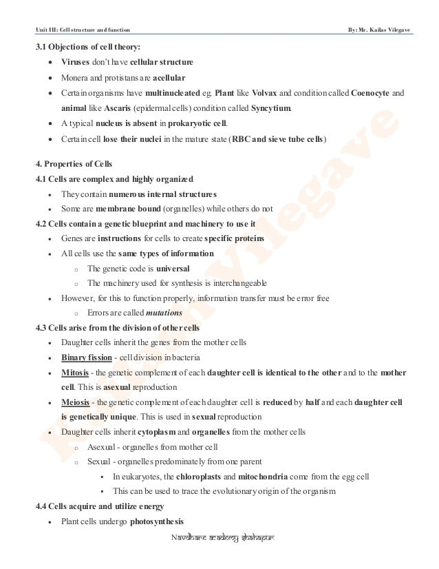 Unit 3 by kailash sir cell structure function kp – Function of the Organelles Worksheet