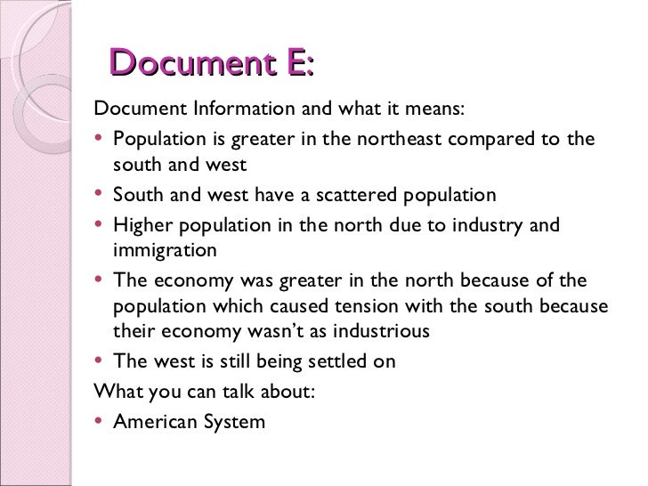 dbq on american system American industrial revolutin dbq  under henry clay's american system, canals, railroads, and public education paramounted past internal improvements.