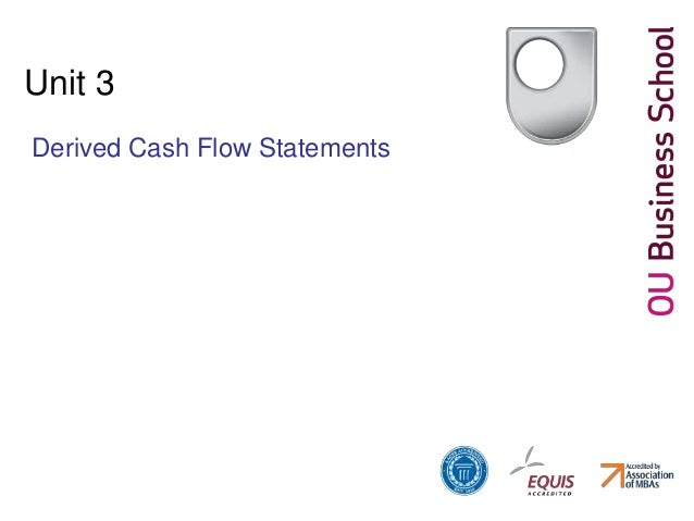 Unit 3 Derived Cash Flow Statements
