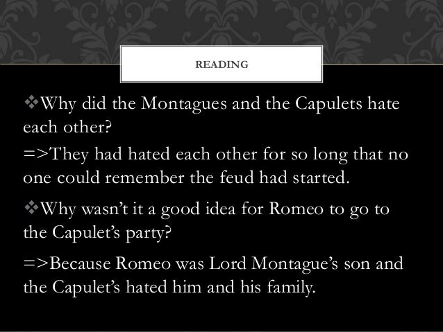 when romeo and juliet first meet how do they speak of each other