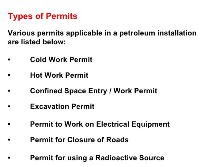 Unit 3 integrated hse 31 types of permits pronofoot35fo Image collections