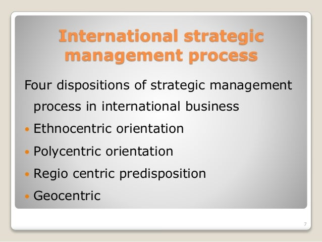 what is international strategic management critically Critical approaches to strategic management 93 do so within an intra-organizational perspective that eschews consideration of broader social and political structures (alvesson and willmott, 1996.
