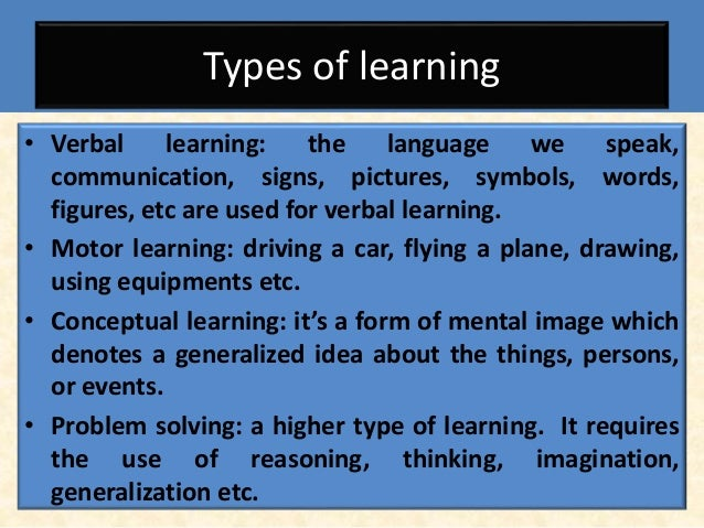 concept of verbal learning