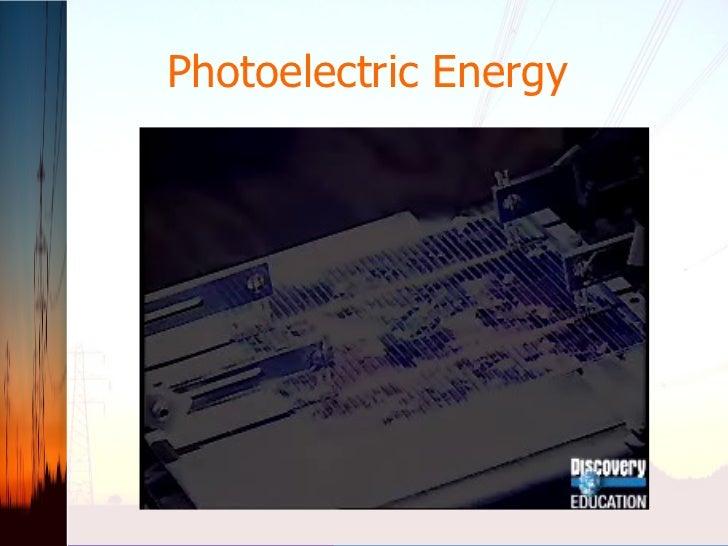 Photoelectric Energy