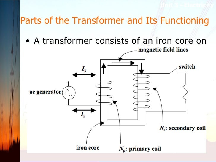 Parts of the Transformer and Its Functioning  <ul><li>A transformer consists of an iron core on which two coils are wound:...