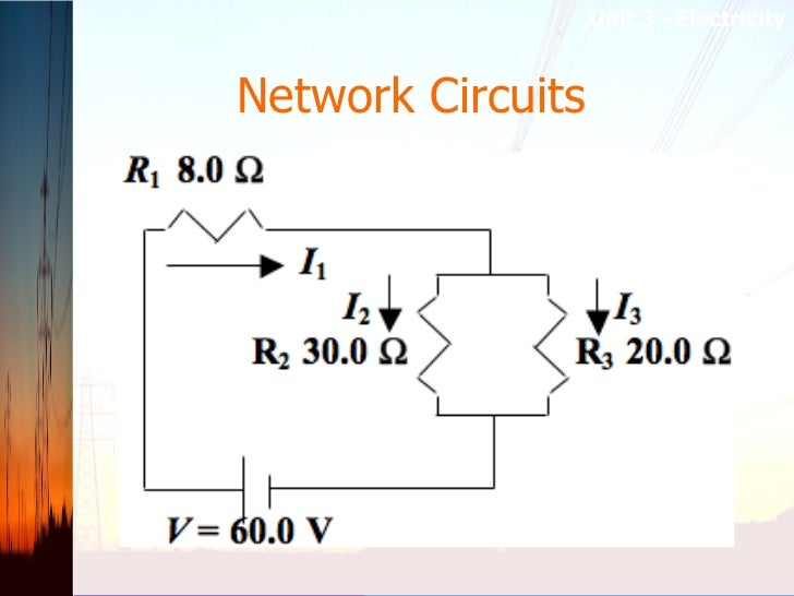 Network Circuits   Unit 3 –Electricity
