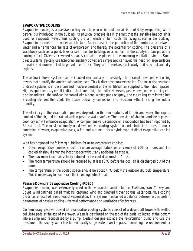 passive cooling techniques essay Find essay examples essay passive cooling and ventillation - research paper site's climate and whether patterns to successfully employ the passive cooling.
