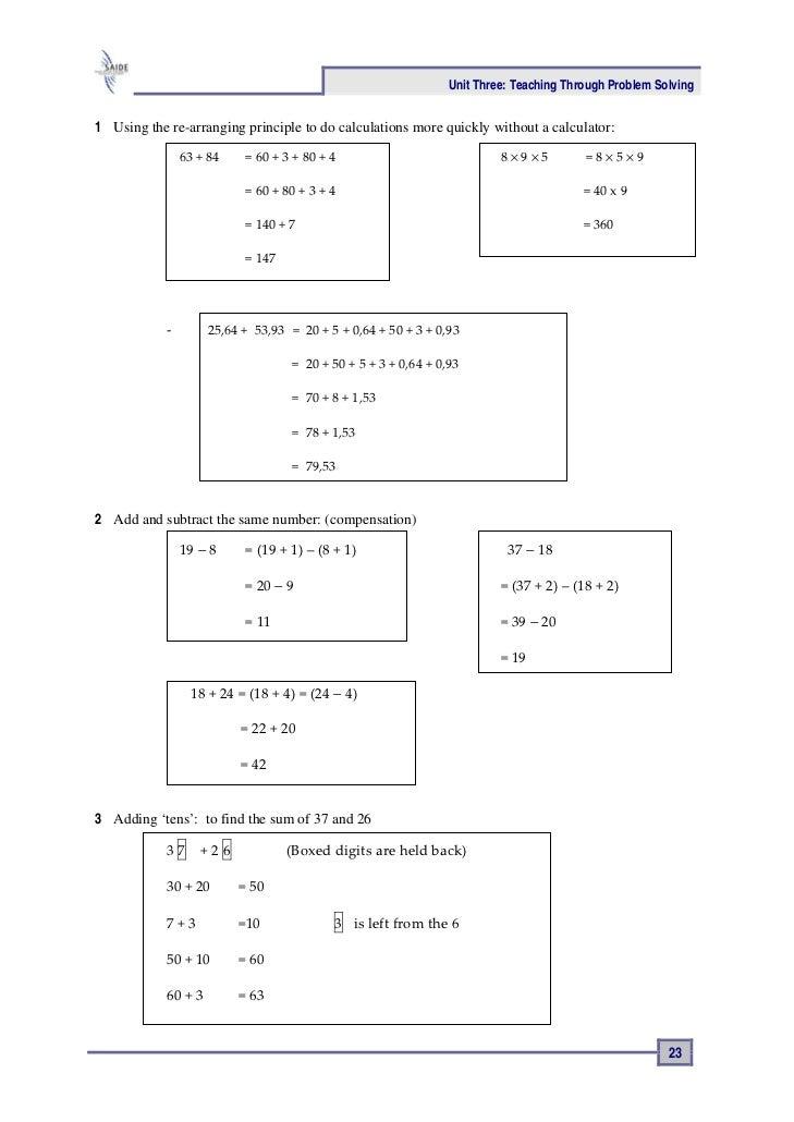 teaching mathematics through problem solving pdf