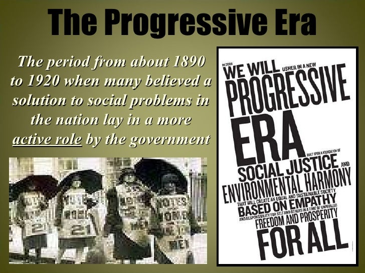what ended up being progressivism