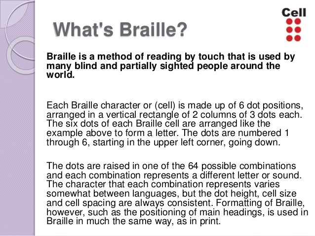 disadvantages of using braille
