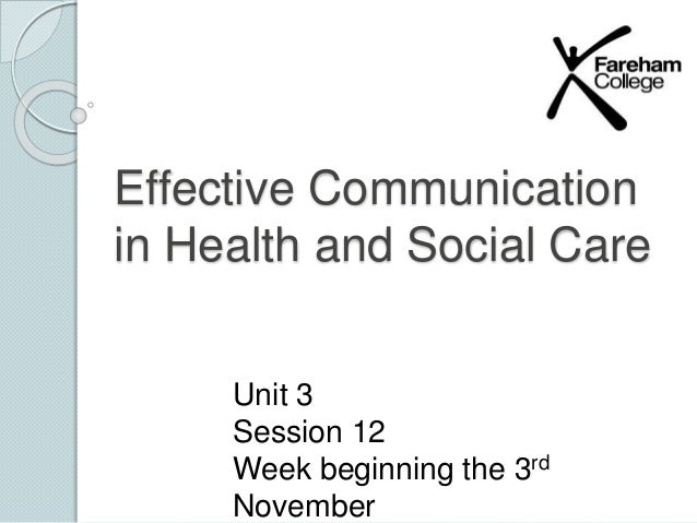 unit 1 communication in health