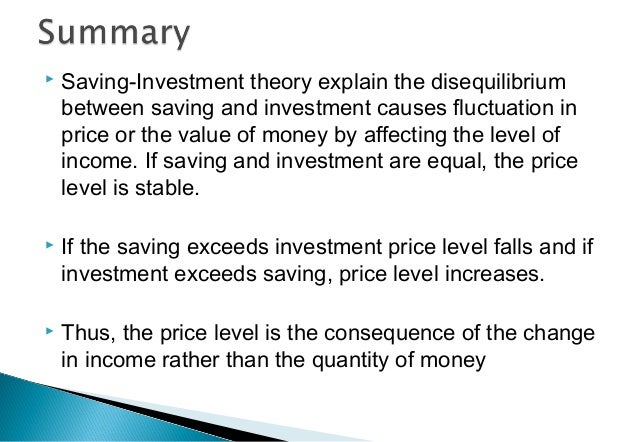 relationship between income saving and investment