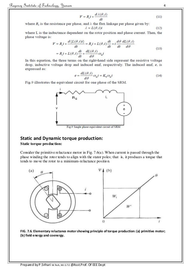 synchronous reluctance motor thesis Comparison of performance of switched reluctance motors, induction motors and permanent magnet dc motors a thesis submitted to the graduate scholl of natural and applied sciences.