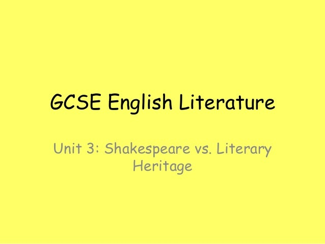 Gcse english shakespeare coursework