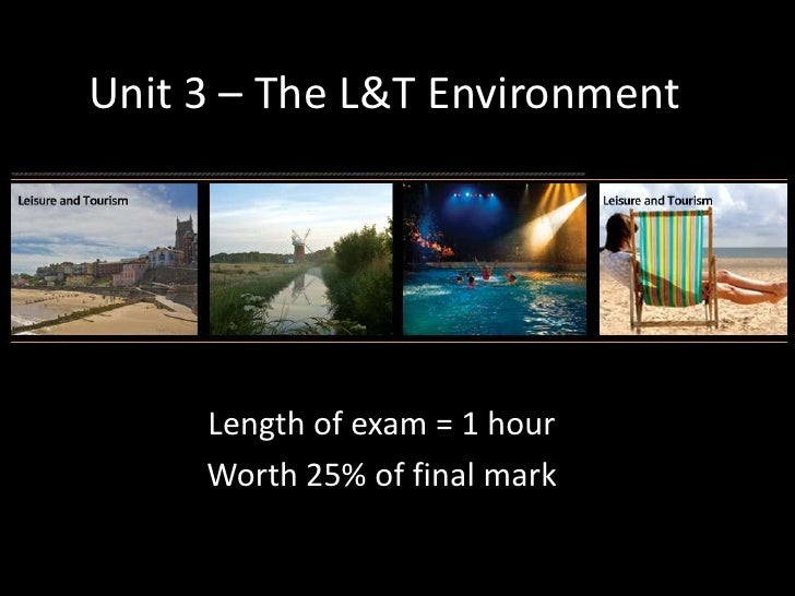 Unit 3 – The L&T Environment<br />Length of exam = 1 hour<br />Worth 25% of final mark<br />