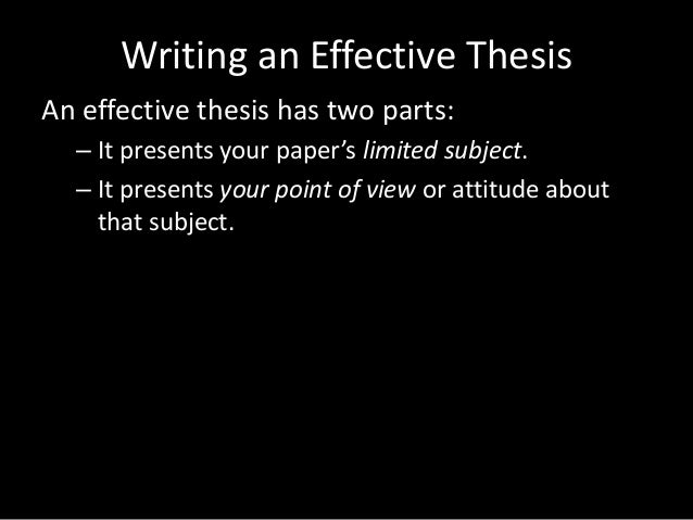 intro to thesis paper A guide to writing the literary analysis essay  i introduction: the first paragraph in your essay it begins creatively in order to  major thesis goes in this.