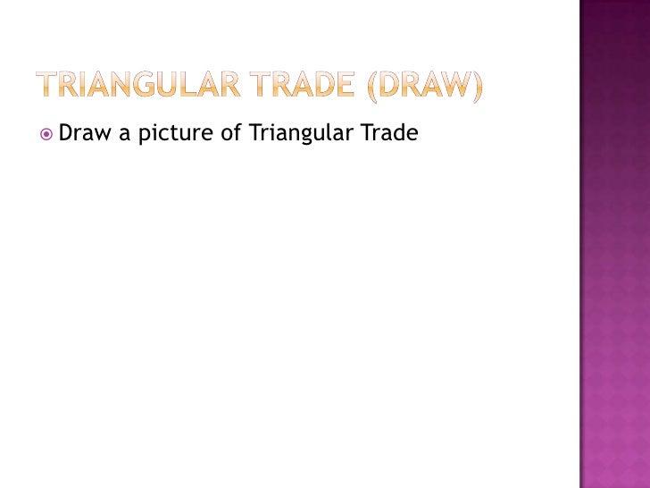 Triangular trade system definition
