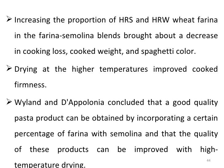 is farina good for weight loss