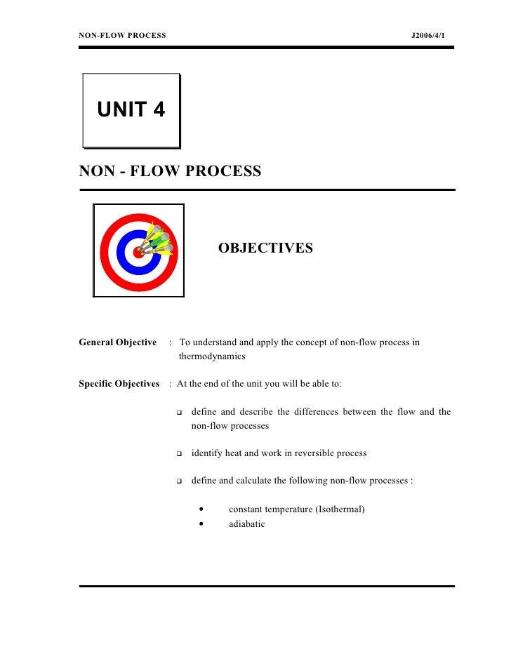 NON-FLOW PROCESS                                                                  J2006/4/1    UNIT 4NON - FLOW PROCESS   ...
