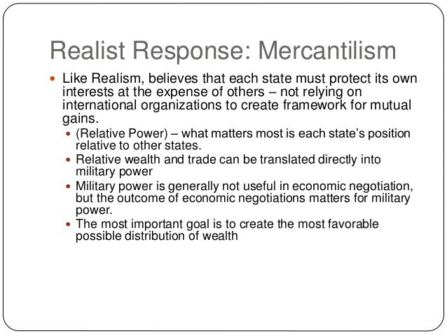 Mercantilism Theory of International Trade