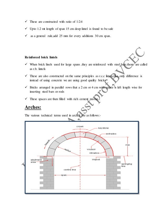  These are constructed with ratio of 1:2:4  Upto 1.2 mt length of span 15 cm deep lintel is found to be safe  as a gene...