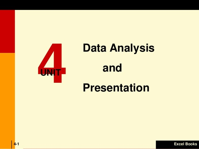 Data presentation and analysis essay
