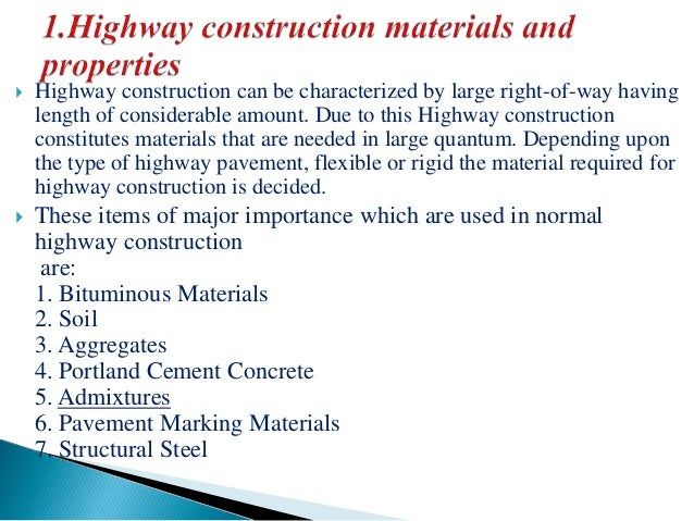 Highway Construction Materials : Highway construction material practice