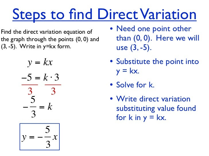 Unit 4 hw 7 - direct variation & linear equation give 2 points