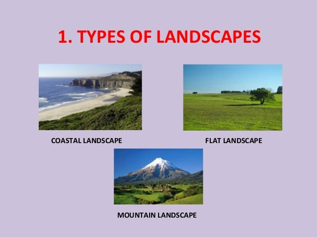 TYPES OF LANDSCAPES; 2. 1. - Unit 4 - Landscapes
