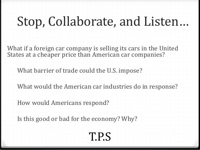 why does the u s trade goods that they can produce themselves with other countries Exhibit i us manufactured goods trade by selected categories source: us department of commerce, international trade association, united states trade: performance in 1985 and outlook.
