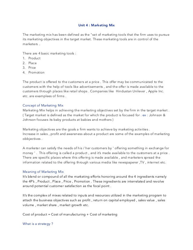 Marketing Unit 1 Homework