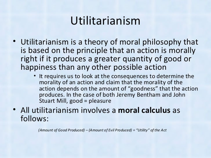 morality and utilitarianism Definition of morality  definition of morality in english:  'utilitarianism in moral philosophy is the view that morality should be aimed at promoting.