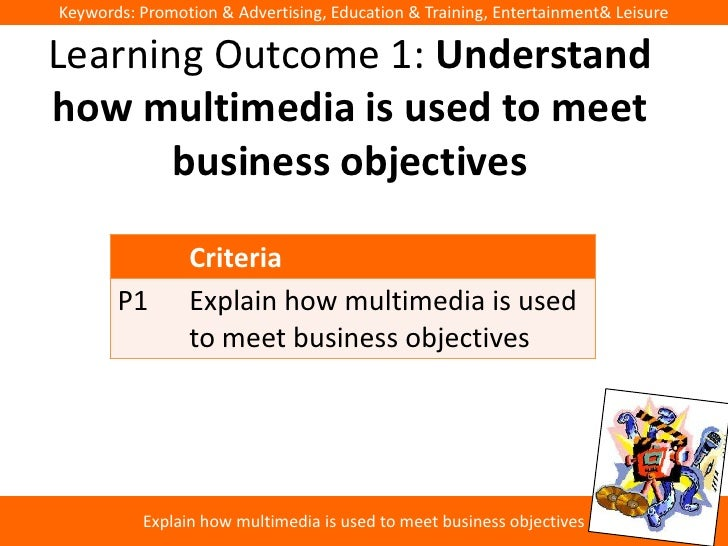 Keywords: Promotion & Advertising, Education & Training, Entertainment& LeisureLearning Outcome 1: Understandhow multimedi...