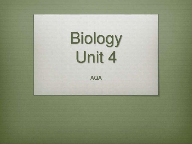 Biology Unit 4 AQA
