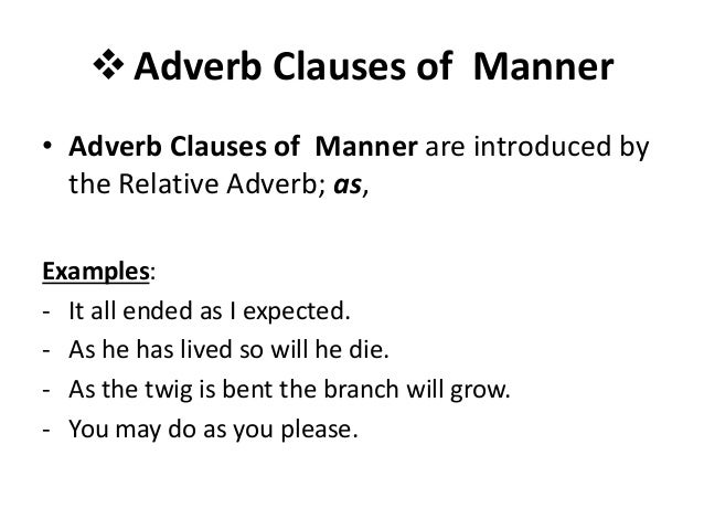 adverb clause examples